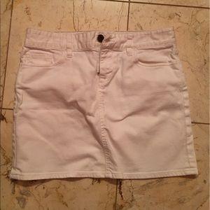 J.Crew white denim skirt